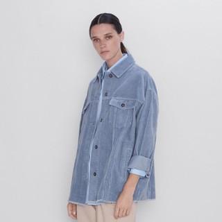 ZARA 08372222403 女装灯芯绒衬衫式外套