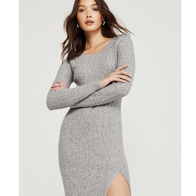 Abercrombie&Fitch 301752-1 女装船领中长款针织连衣裙