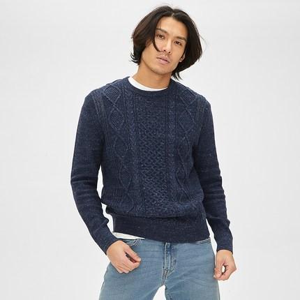Gap 485333 男款圆领长袖毛衣