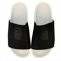 银联爆品日: adidas Originals Adilette Luxe Slide Sandals 女士拖鞋