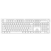 AJAZZ 黑爵 AK515 有线机械键盘 白光 白色 黑轴