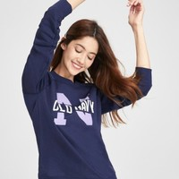 OLD NAVY 449813 女士圆领徽标卫衣