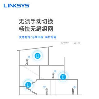 领势(LINKSYS)Velop MX5300-5300M 三频高通四核分布式路由器