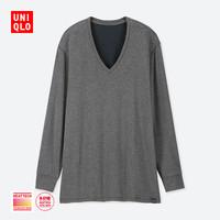UNIQLO 优衣库 男士保暖内衣UQ408116000 深灰色 170/95/M