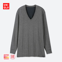 UNIQLO 优衣库 男士保暖内衣UQ408116000 深灰色 165/90/S