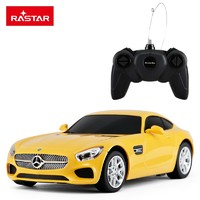 Rastar 遥控车 1:24 奔驰AMG-GT 72100 黄色/红色