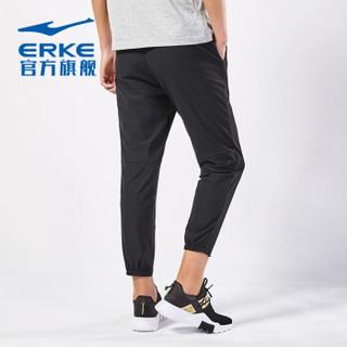 ERKE 鸿星尔克 男士运动休闲裤 11217457297-1(正黑2、3XL)