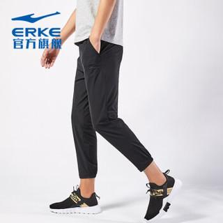 ERKE 鸿星尔克 男士运动休闲裤 11217457297-1(正黑2、M)