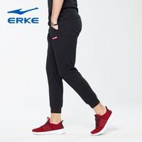 ERKE 鸿星尔克 男士运动休闲裤 11217457297-1(正黑、4XL)