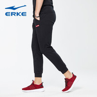 ERKE 鸿星尔克 男士运动休闲裤 11217457297-1(正黑、M)