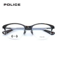 POLICE VPL900K 半框板材加钛光学镜框 依视路 钻晶A4 1.56镜片