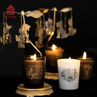 故宫淘宝 瑞兽戏宫烛-香薰蜡烛套装 2杯装