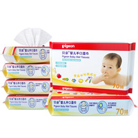 Pigeon 贝亲 婴儿手口湿巾  70片装 6包