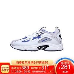 Reebok锐步官方 DMX SERIES 1200 LT 男女低帮复古休闲鞋 FZW69 DV9226-白色/蓝 40.5 *2件