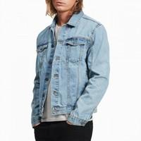 Calvin Klein Jeans 经典水洗男式牛仔外套