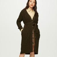 GU 极优 320275 女装长款毛外套