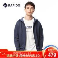 RAPIDO 雳霹道 CN8Z76C03 男士基本款针织运动休闲外套