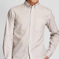 UNIQLO 优衣库 421176 男士长绒棉条纹衬衫