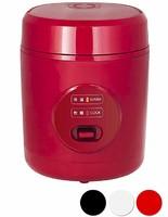山善 电饭煲 微电脑式 1.5合烹饪 迷你电饭锅 红色 3合未満 YJE-M150 需配变压器