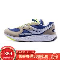 Saucony索康尼  AYA  经典复古鞋 跑鞋 男鞋 S70460 灰兰霓虹 42.5