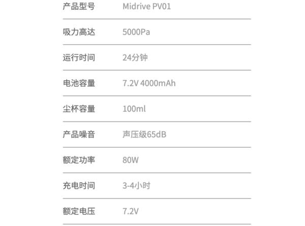 70迈 Midrive PV01 车载随手吸尘器