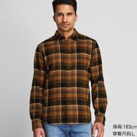 UNIQLO 优衣库 421199 男装 法兰绒格子衬衫(长袖)