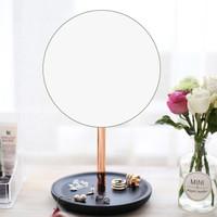 AHDE Hestia化妆镜 北欧ins风台式化妆镜子 梳妆镜子送女友礼物 6.3寸玫瑰金色