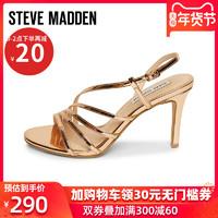 Steve Madden思美登2019新款一字扣带细高跟凉鞋女夏罗马风AUTORA