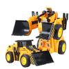 亿创空间 一键变形工程车儿童玩具车玩具金刚推土机 宝贝压路机男孩惯性铲车PK汽车机器人变形车