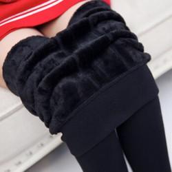 冬装保暖加绒加厚踩脚一体打底裤女【80-150斤可穿 黑色 均码