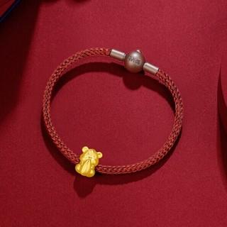 ZLF 周六福 3D硬金 足金999 AD164823 生肖鼠手绳