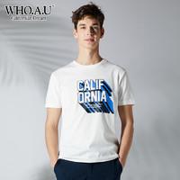 WHOAU 男士短袖T恤 WHRP823T44