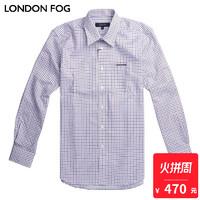 LONDON FOG/伦敦雾男士休闲长袖衬衫LW11WH028