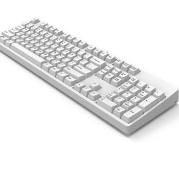 GANSS 高斯 GANSS-104C系列 cherry轴背光机械键盘 104键 红轴 无光版 白色