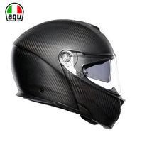 AGV摩托车机车越野双镜片四季拉力个性碳纤维揭面盔全盔头盔 亚光色 XL