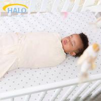 美国HALO包裹式睡袋棉质襁褓包巾 婴儿新生儿宝宝襁褓睡袋