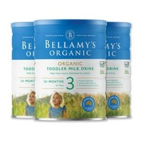 BELLAMY'S 贝拉米 婴儿有机奶粉 3段 900g*3罐(12-36月)