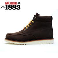 新款渥弗林wolverine1883户外鞋登山靴休闲工装中邦短靴大码 棕色 40美码7