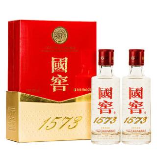 泸州老窖 国窖1573 浓香型白酒 52度 小礼盒 50ml*2瓶 *5件