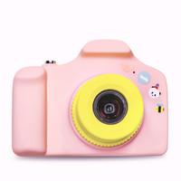 C&C 儿童相机数码卡通照相机玩具运动摄像头微型迷你仿真单反复古儿童生日礼品小单反照相机可爱粉 *2件