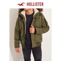 Hollister2019年冬季新品潮流款毛料内衬飞行员夹克 男 300773-1 *3件