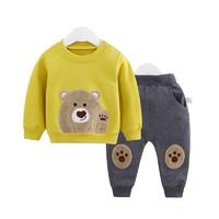 CICIIBEAR 齐齐熊  男女宝宝秋装卫衣套装