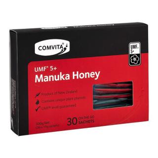 康维他(comvita)麦卢卡蜂蜜5+ 便携装30条 新西兰进口袋装蜂蜜小包装