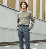 UNIQLO 优衣库 421261 男士高领羊毛针织衫