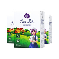 尼平河 全脂纯牛奶 200ml*24盒 *7件 +凑单品