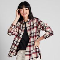 UNIQLO 优衣库 421603 女装法兰绒格子衬衫