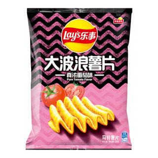 Lay's 乐事 大波浪薯片番茄味 135g *19件