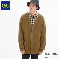 GU 极优 320279 男装罗纹V领针织开衫