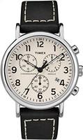 天美时 TWG012800QM Weekender Chrono 中性皮革表带手表
