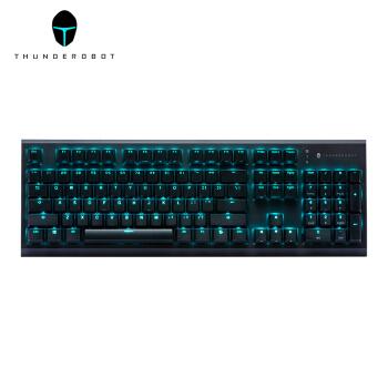 ThundeRobot 雷神 KG5104经典版Cherry轴机械键盘 青轴 新生蓝背光 104键电竞键盘 游戏键盘